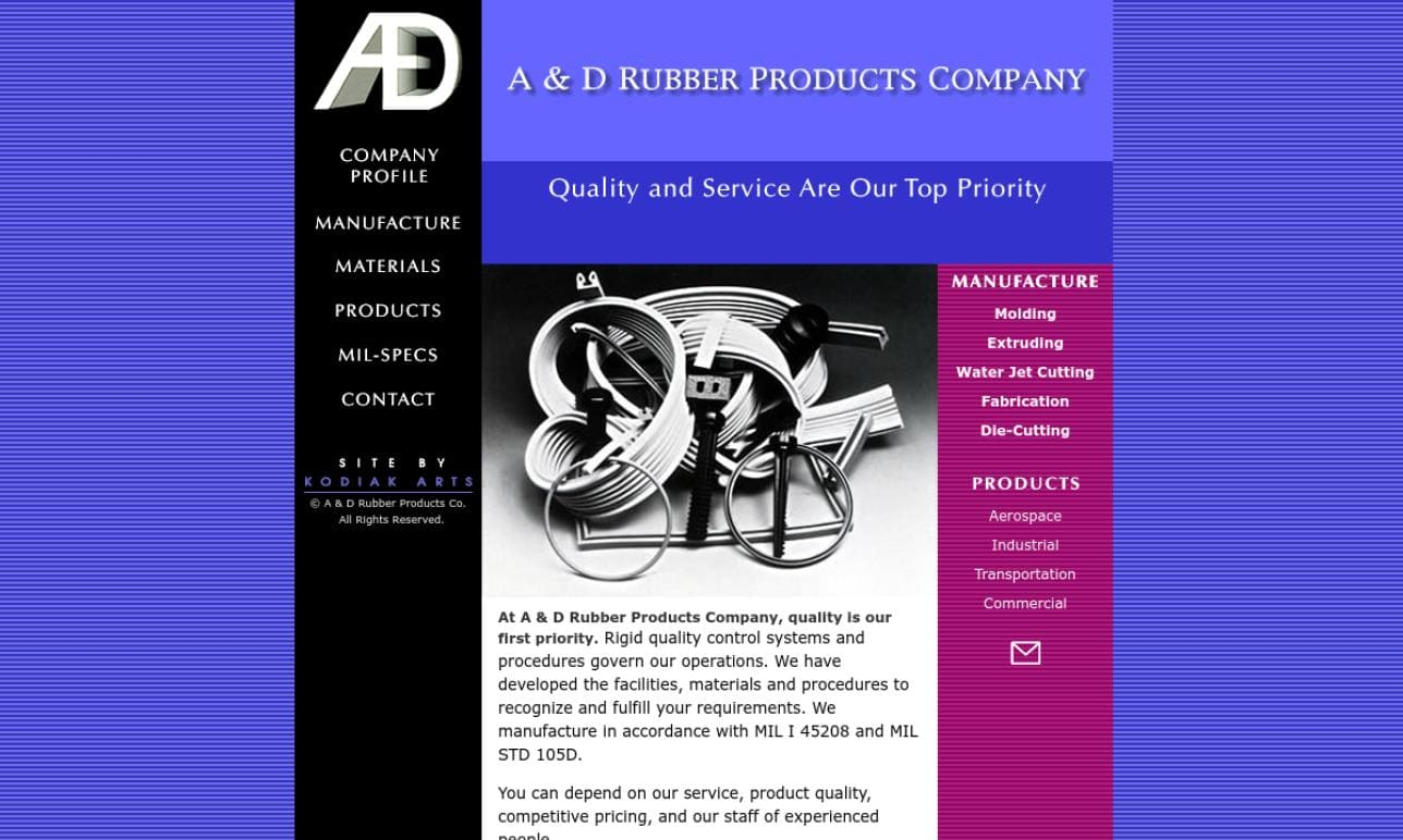 A & D Rubber Products Company