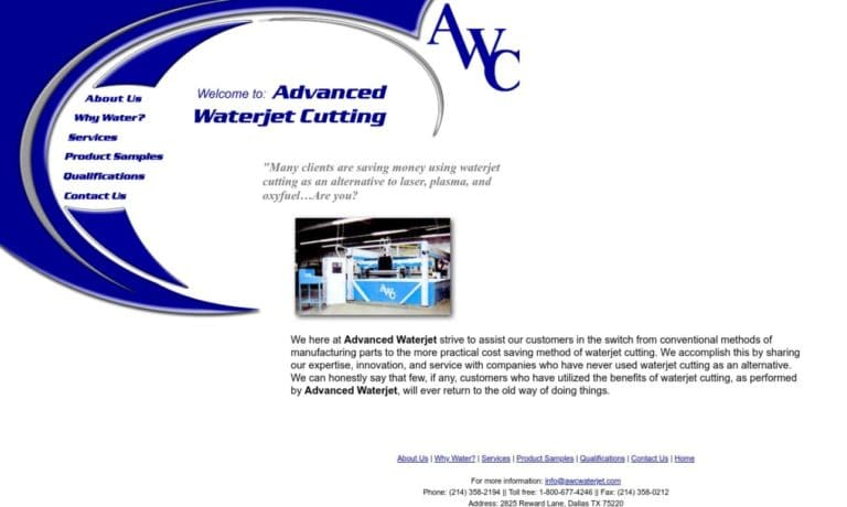 Advanced Waterjet Cutting, Inc.