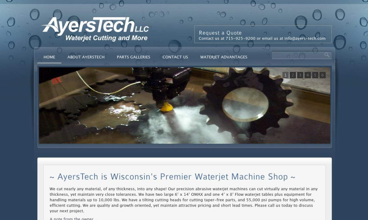 AyersTech Waterjet Cutting
