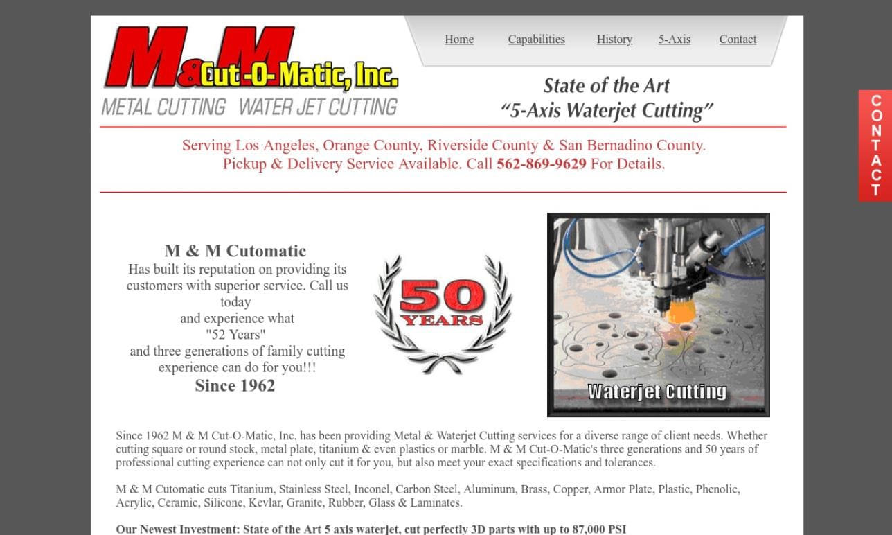 More Waterjet Cutting Company Listings