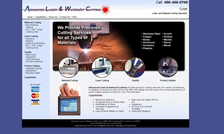 Advanced Laser & Waterjet Cutting, Inc.