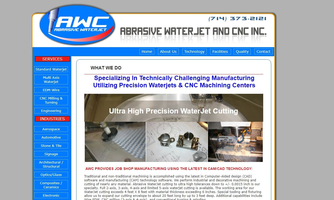 Abrasive WaterJet & CNC Inc.